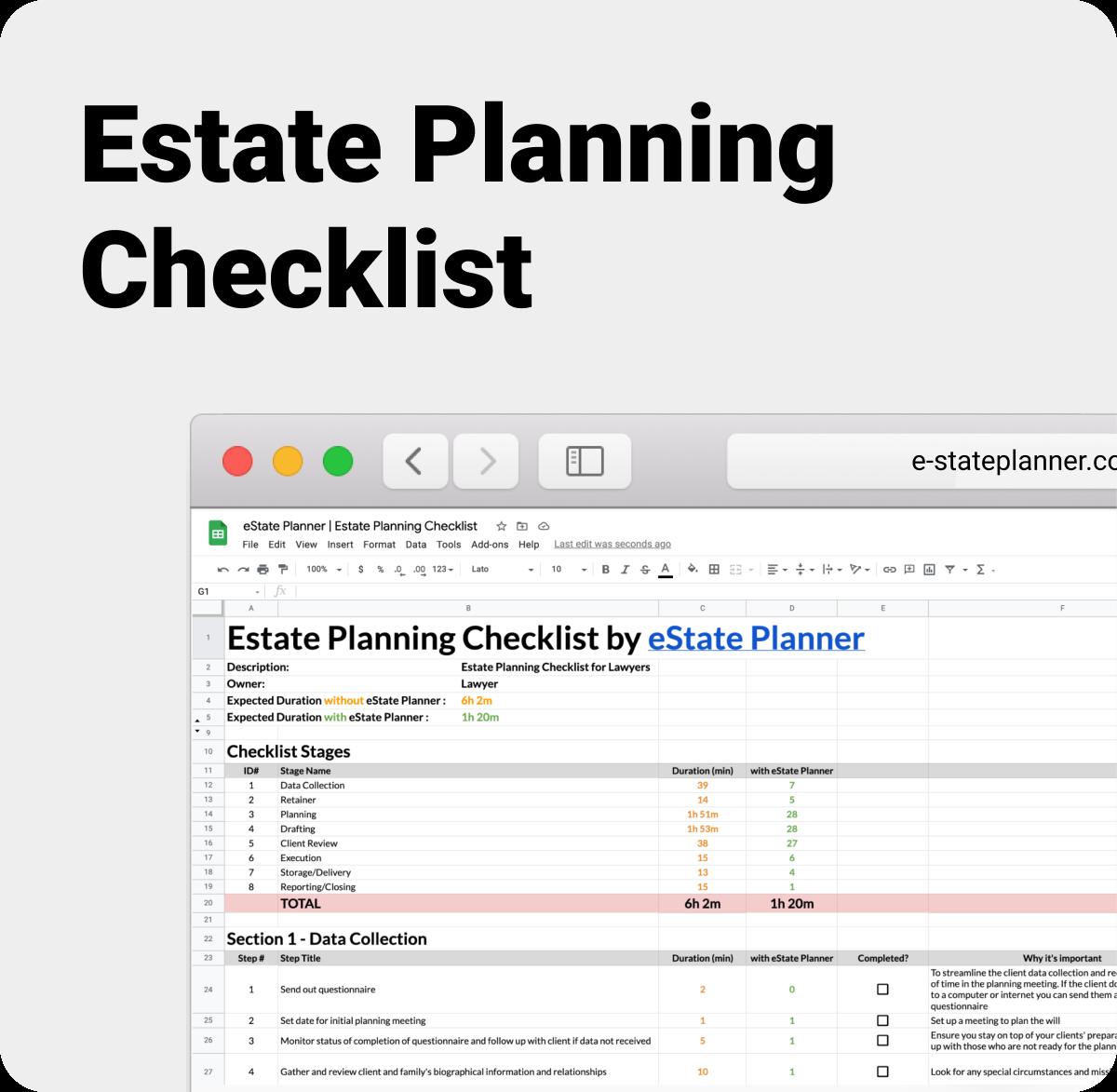 Estate Planning Checklist by eState Planner